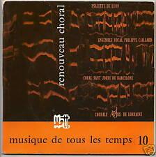 MUSIQUE . TEMPS N°10 33T 17cm Livre CHORAL BACH - LYON