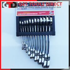 12 Piece Flexi Head Ratchet Spanner Set Metric Combination Wrench Glory Quality