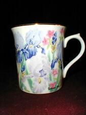Lenox Flower Blossom Collection Suzanne Clee IRIS Mug