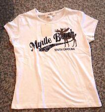 T-Shirt weiss mit Aufdruck, Gr. 36/38, Neu /MJK