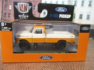 M2 Machines 1969 Ford F100 Ranger 4x4 Pickup Truck 1/64 diecast Rubber Tires