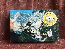Vintage Tuco Round Miniature Jigsaw Puzzle Colorado Pastures in Original Box Com