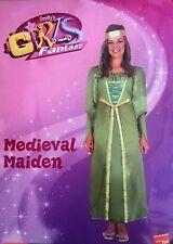 Girls Smiffys Maid Marion Tudor Medieval Maiden Fancy Dress Costume Small 38644