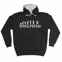 EVOLUTION CRICKET HOODIE hoody wicket batsman bowler funny birthday gift 123t