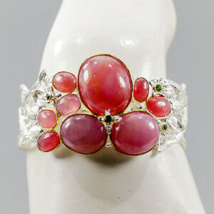 """One of a kind Ruby Bangle 925 Sterling Silver  Inches 2.5""""/BA02248"""