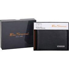 BEN SHERMAN Men's Sheepskin Leather Wallet **Brand New w/ Tag** Passcase