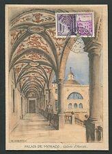 Monaco MK 1952 Postmuseum Galerie Hercule maximum CARTE MAXIMUM CARD MC cm d7140