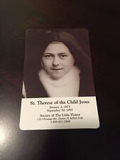 Saint Therese + Little Flower + 3rd Class Relic