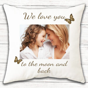 PERSONALISED PHOTO Mothers Day Gift Pillow Sofa Cushion Cover Custom Print 0010