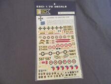 651G ESCI 94 Decal USA Lockheed T-33 Shooting Star 1:72 Tank 1:30 & 1:40