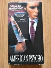 American Psycho Vhs 2000 Christian Bale Hollywood Video