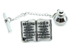 95:6 and Serenity Prayer Religious Pin Scriptural Open Bible Tie Tack Psalm