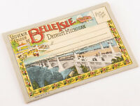 Antique Vintage Souvenir Folder Postcards DETROIT MICHIGAN Belle Isle 1920's