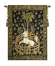 Unicorn in Captivity Belgian Medieval Animal Woven Tapestry Wall Hanging NEW