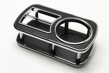 1Pcs Small Black Chrom Brim Car Cup Holder Ac Outlet Bottle Plate Interior Parts