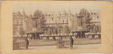 Fontaine Louvois Paris France Photo Stereo Vintage albumine ca 1860