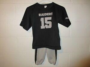 Vintage 90s Hutch Oakland LA Raiders Jeff Hostetler Jersey Pants Outfit Youth M