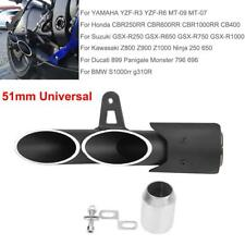 Dual Outlet Motorcycle Exhaust Muffler Tail Pipe Slip On 38mm-51mm Universal  SU