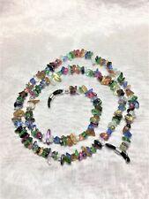 Rainbow Glass Mix Chip Eyeglass Sun Glass Chain Holder #845