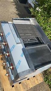 CHARGRILL WITH GRIDDLE & HOT PLATE LPG CHARCOAL Flame GRILL NEW