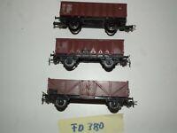 Piko 3 Hochbordwagen Güterwagen  H0 FD380