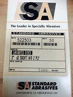 "DD3696-50 STANDARD ABR 524507 3/"" 100GRIT Q//C DISC 50PCS"