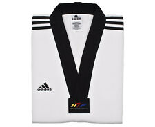 Adidas ADI-CLUB 3/// World Taekwondo Federation Dobok Gi Tunic Size 150cm White