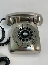 STUNNING RETRO BRUSHED CHROME OLD STYLE HOME TELEPHONE WAIT FOR DIAL TONE PHONE