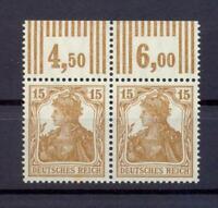 DR 100 b gute Farbe Oberrandpaar Walzendruck 3'7'3 postfrisch Fotoattest (ks10)
