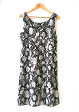 Womens Jacqui E sz 12 Silky Animal Print Tiered Dress (D1)