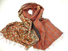 Indian Kantha 100% Silk Scarf New Vintage Handmade