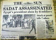 1981 newspaper ISLAMIC Jihad TERRORISTS assassinate Egypt President ANWAR SADAT