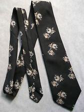 Vintage Tie Mens Wide Necktie Retro Fashion FLORAL BROWN BEIGE CREAM