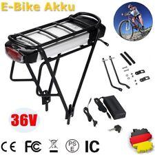 36V 13Ah E-Bike Li-Ion Akku + Gepäckträger +Ladegerät für Pedelec Elektrofahrrad