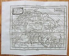 Buffier Original Engraved Map Continent Asia - 1768