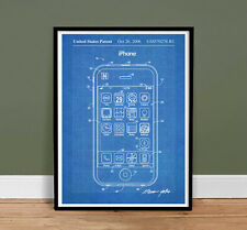 "iPHONE POSTER Patent Print 18x24"" Poster Apple Computer Steve Jobs (unframed)"