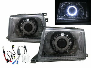 HARDBODY D22 MK1 00-01 Guide LED Halo Projector HID Headlight CH for NISSAN LHD
