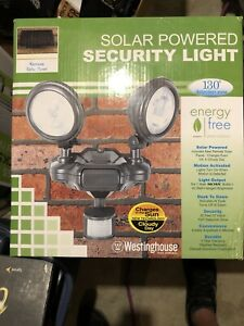 Westinghouse Solar Powered Security Light 130* Zone Motion Dusk Dawn NIB 40 Watt