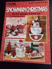 Snowman Christmas In Plastic Canvas Book  ~ Leisure Arts ~ 1996