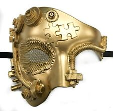 ALL Gold Steam Punk  Phatom Opera Theatre Mardi Gras Masquerade Mask!