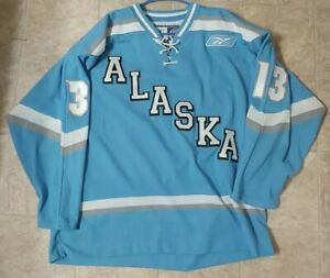Alaska Aces Bo Cheesman #13 Hockey Jersey 2007-08 ECHL SZ Large Autographed CCM