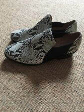 H&M Snakeprint Shoes Ankle Boots Size 4