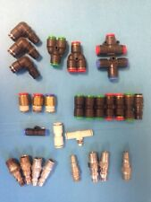 **LOT OF (28)** CONNECTORS (17) PISCO, (2) SMC, + (9) OTHERS, FREE SHIPPING!!