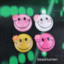 16pcs Resin Flatback Scrapbooking Smiling Face For DIY Phone/Craft Christmas C14