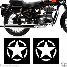 CUSTOMISED STAR WHITE STICKER FOR BIKE /CAR- 2 pieces- OFFER SALE!!!