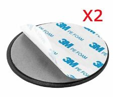 GA-013 x 2: 3M Sticky GPS Dashboard Console Mounting Disc Disk (2 pcs)