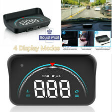 4 Mode Car HUD Multi-function Head-up Display OBD2 II Overspeed Warning System