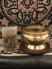 NEW! Ornate Brass charcoal resin incense burner +FREE SHIPPING AND RESIN SAMPLE