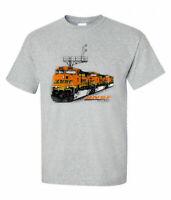 NEW BNSF ES44DC Authentic Railroad  T Shirt Tee