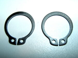 INTERNAL EXTERNAL DOOR HANDLE SPRING CIRCLIP 15mm SHAFT DIAMETER STANDARD PAIR 2